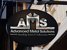 Advanced Metal Solutions Logo Design