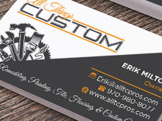 All Things Custom Business Card Design