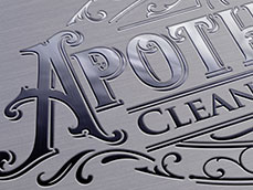 Apothecary Cleaning Company Metallic Logo