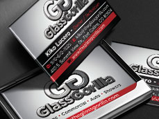Gorilla Glass Business Card Design