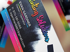 Painting Solutions Business Card Design